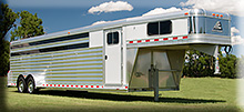 7 x 28 Elite aluminum trailer w/ dressing room