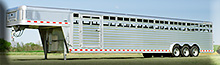8 x 38 Elite aluminum stock trailer
